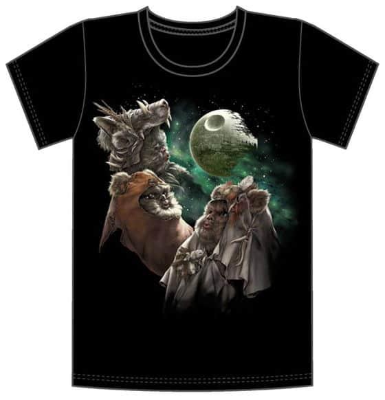Three Ewok Moon T-Shirt – Nerd Approved