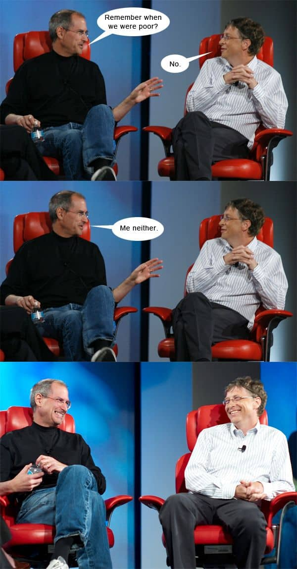 Steve Jobs And Bill Gates Have A Chat