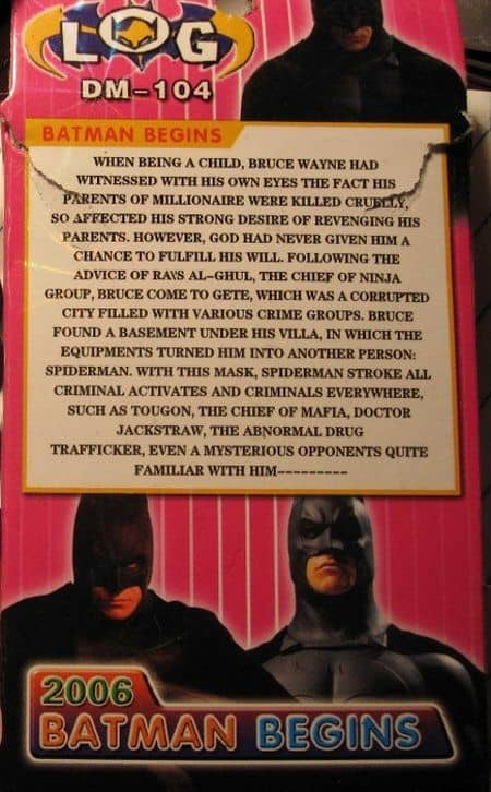 A Batman Toy Translated By An Idiot
