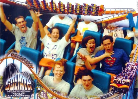 funny picture of a couple on roller coaster
