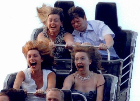 Hot Girls On Roller Coaster
