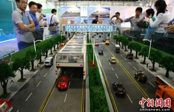 Chinese Straddling 3D Fast Bus