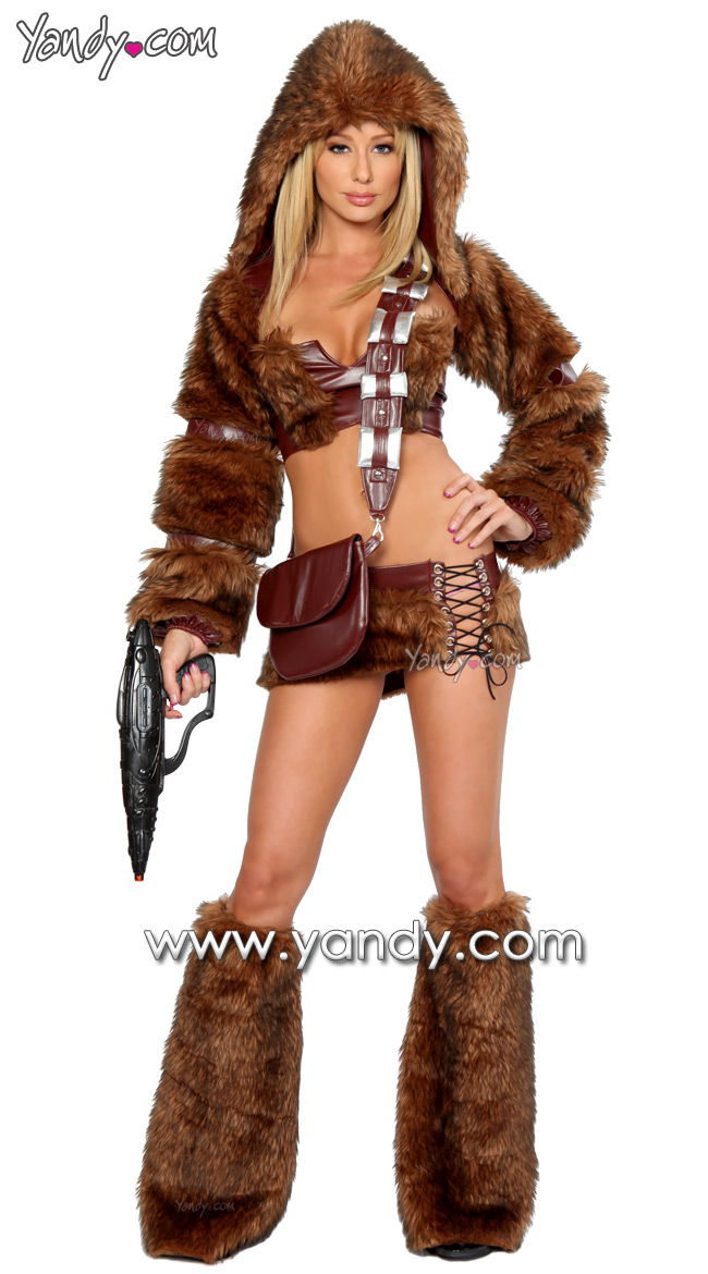 first up the very hot and sexy chewbacca costume