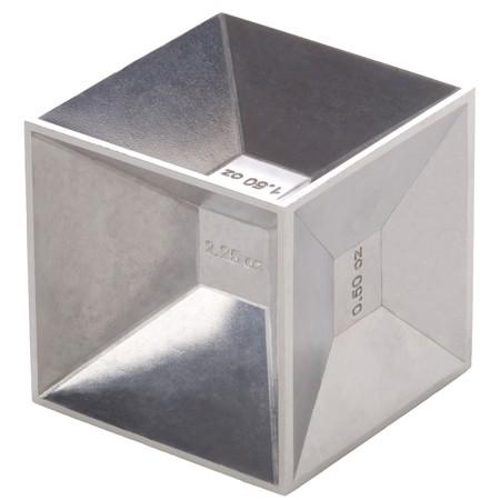 cube jigger for measuring and pouring drinks
