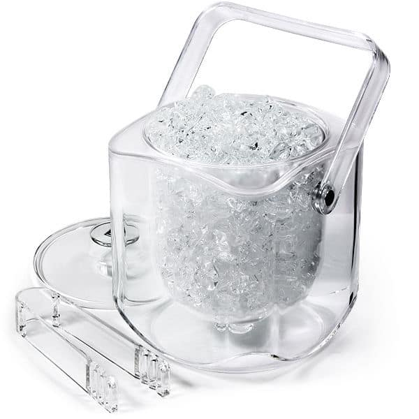 all acrylic double walled ice bucket