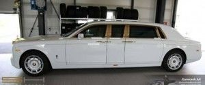 Armored Rolls Royce Phantom Solid Gold – $8 Million