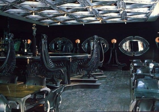Inside of the bar in Chur Switzerland