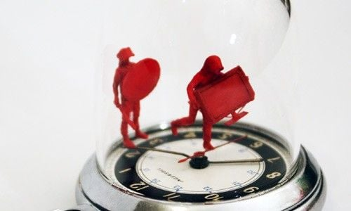 moments in time london riot watch figurine