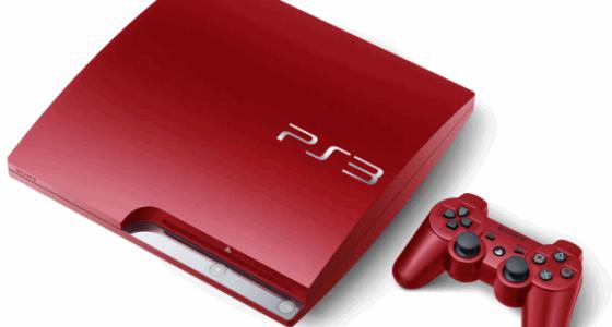 Scarlet Red Sony Playstation 3 Slim