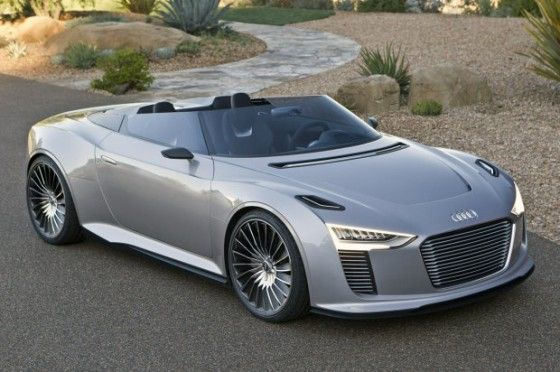 Concept Audi e-tron Spyder electric concept car