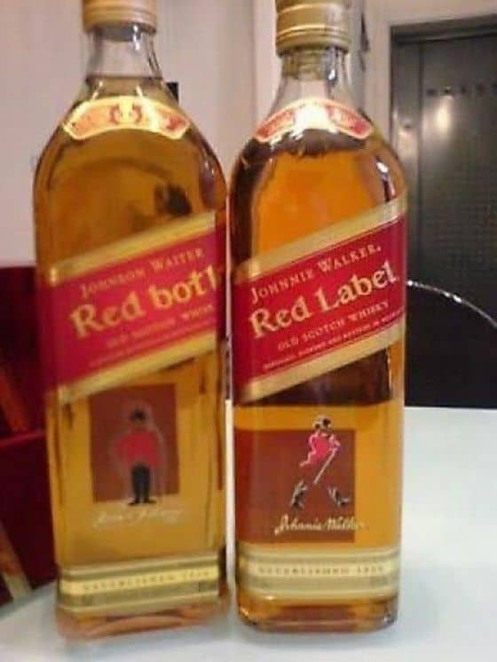 Knock-off of Red Label called Red Bottle