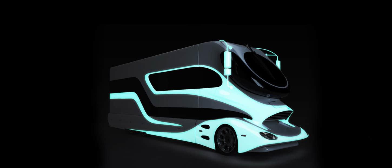 Futurist motorhome Autocaravana futurista Marchi-Mobile eleMMent Palazzo