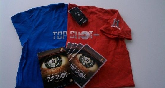 Top Shot dvd set, t-shirt, and iPhone case prize giveaway