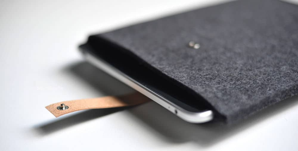 wool and leather ipad cases by Byrd & Belle