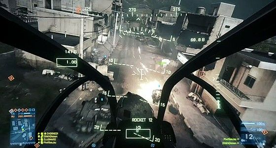 Helicopter in Battlefield 3