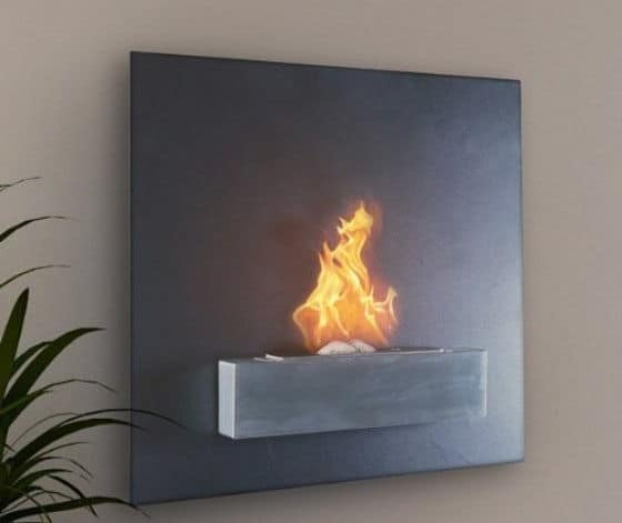 Serafin Fireplace Wall Mounted Ventless And Liquid