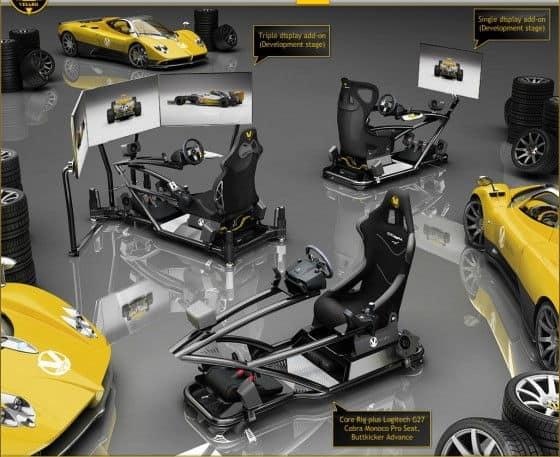 Visaro V-Core and Motion X video game racing simulators