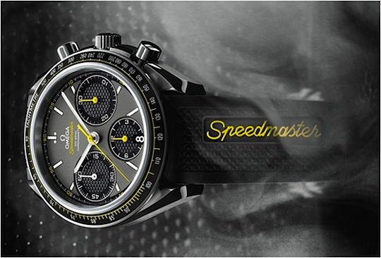 Omega Speedmaster Racing dial close up