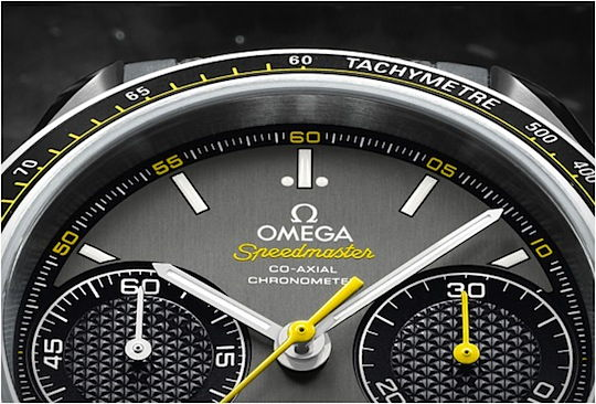 Omega Speedmaster Racing dial close up