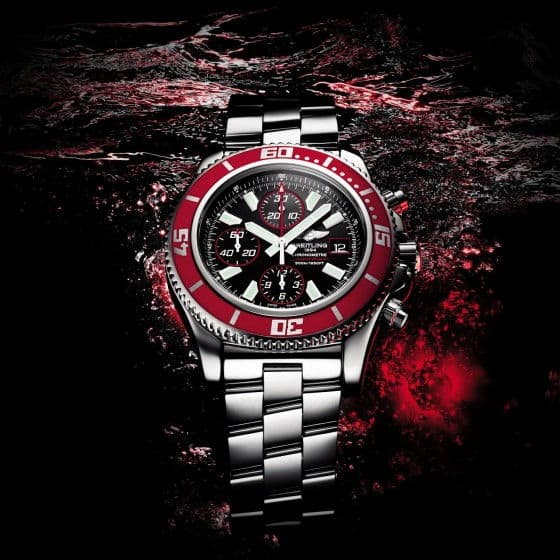 Breitling Superocean Chronograph II Red Watches
