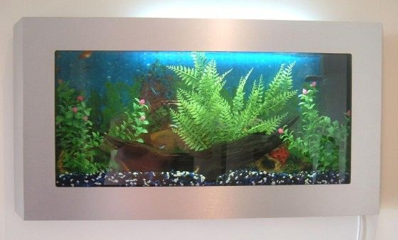 A few necessities for the bachelor pad a wall mounted for Wall mounted fish tanks