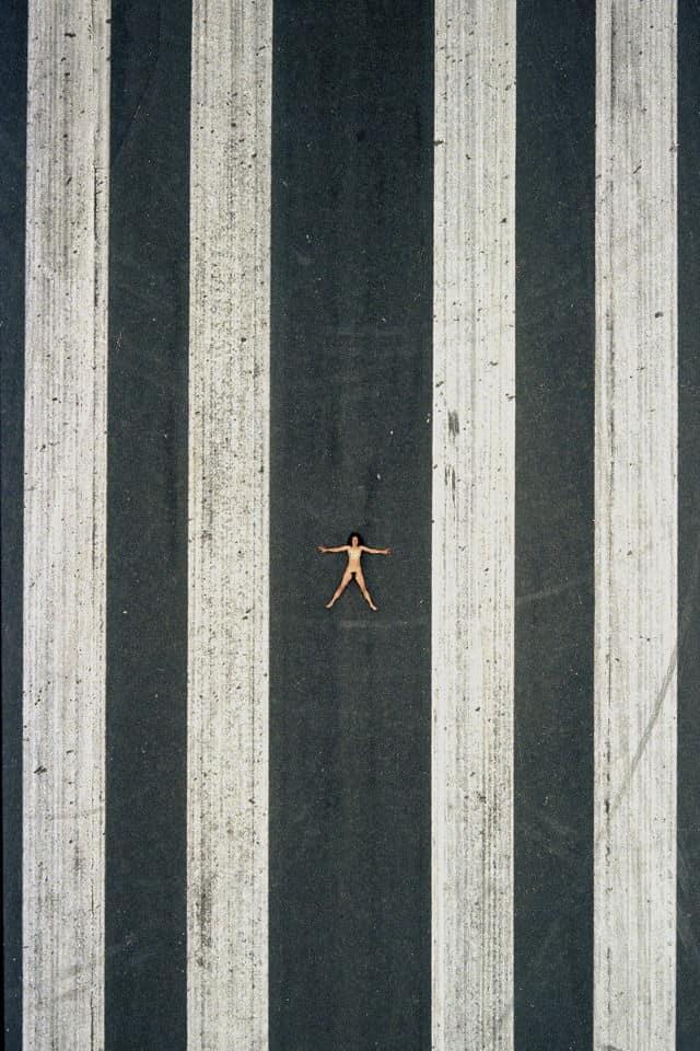 aerial nudes john crawford nude woman in street