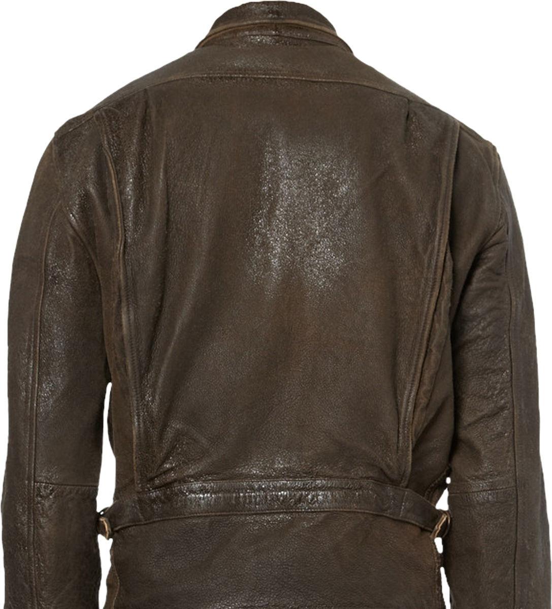 James Bond Skyfall Distressed Leather Jacket - Unfinished Man