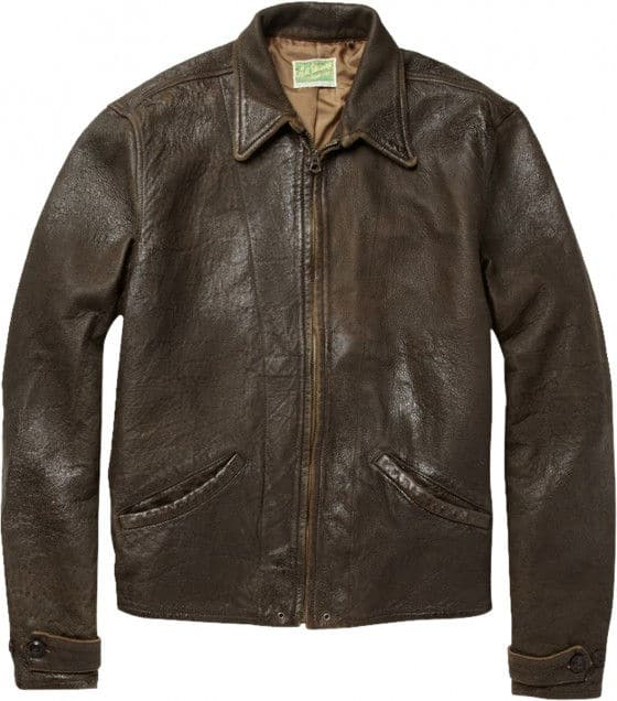 James Bond Skyfall brown leather jacket front