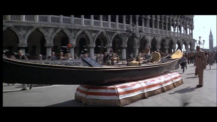 travelling to venice moonraker james bond hovercraft gondola