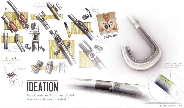 dyson airblow umbrella concept