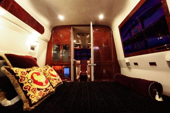 Lexani tuned Mercedes-Benz Sprinter Van bedroom