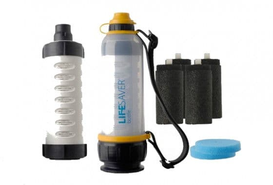 Lifesaver personal water filter bottle