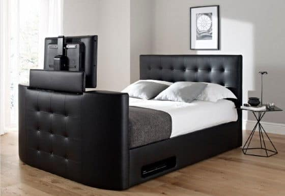 Atlantis Ottoman Leather TV Bed - Atlantis Leather Ottoman TV Bed - For The Lazy Or Smart Man?