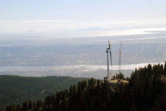 grouse mountain wind turbine