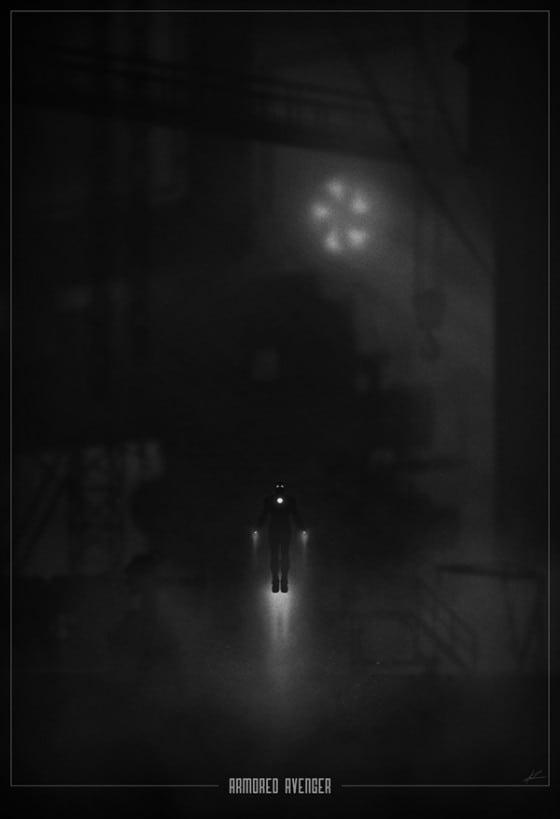 ironman noir poster