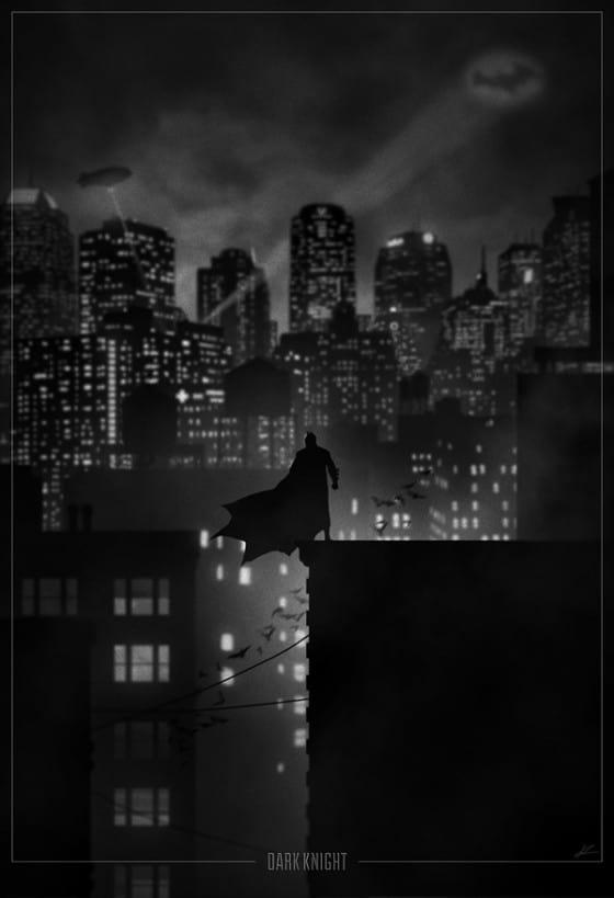 noir batman poster