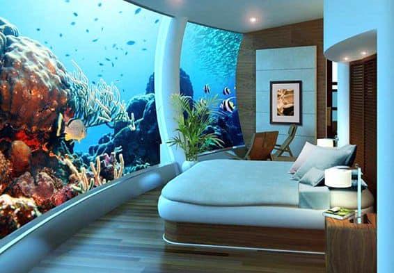 underwater bed