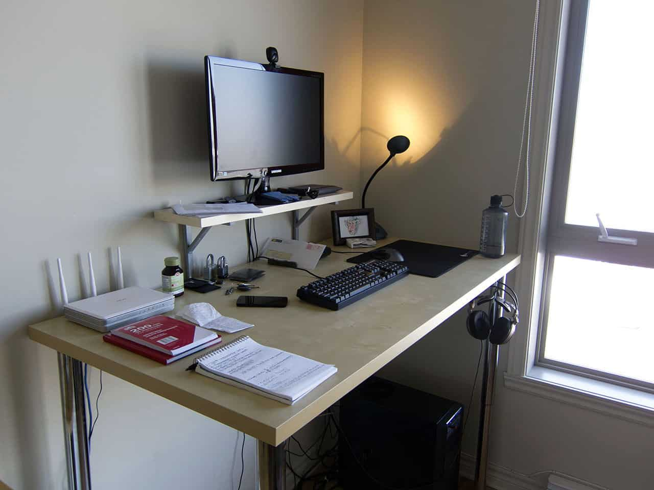 how to build an inexpensive standing desk using ikea parts
