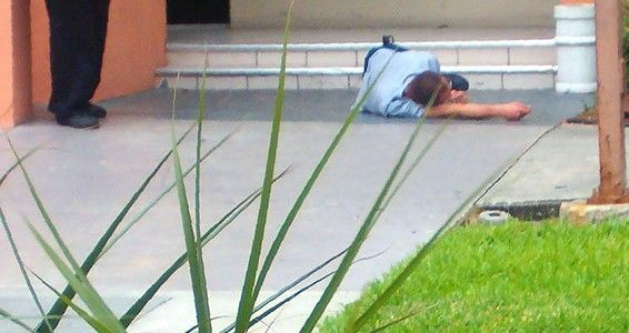 fallen injured man