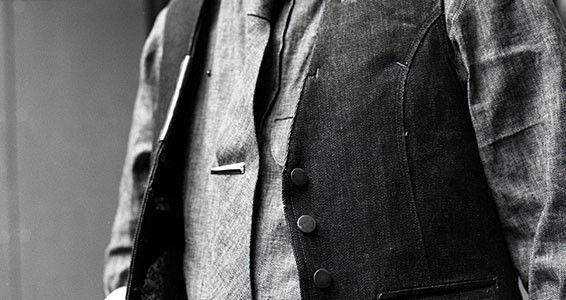 black and white mens vest