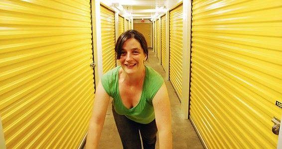 cleaning storage locker