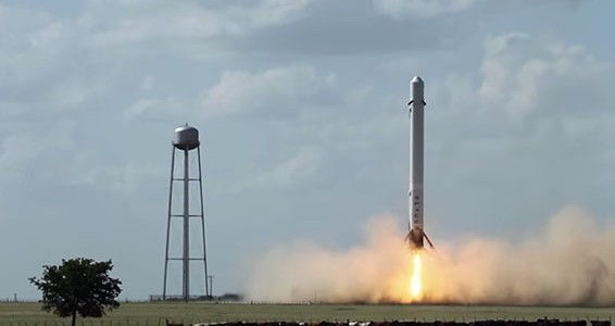 spacex falcon 9 rocket test