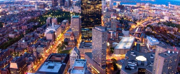 City of Boston at Night