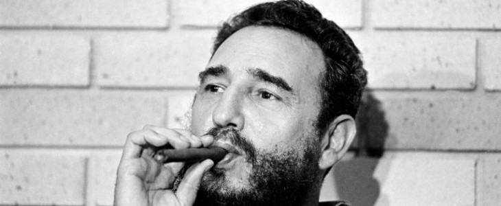 Castro smoking a Cohiba Cigar