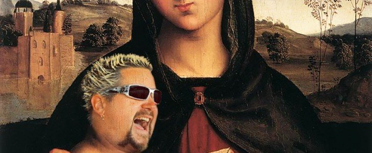 Guy Fieri as Renaissance baby
