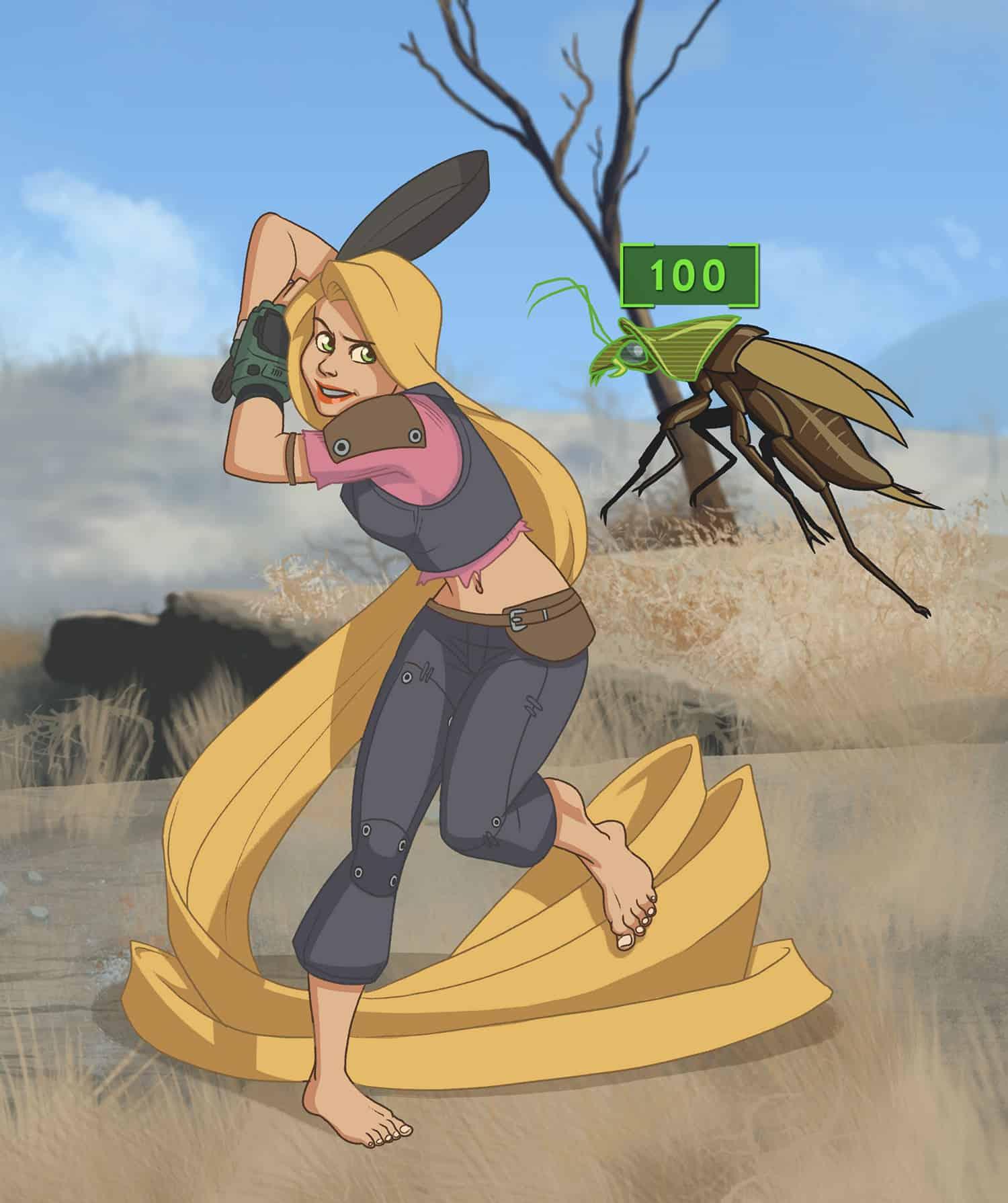 merc-adventurer-rapunzel-fallout-pinup-girl