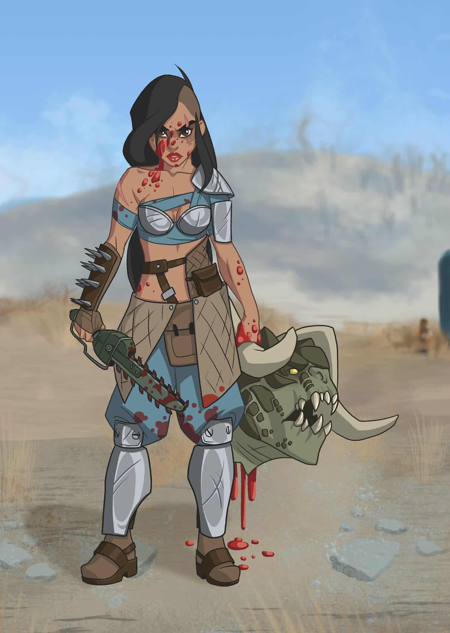 raider-princess-jasmine-fallout-pinup-girl