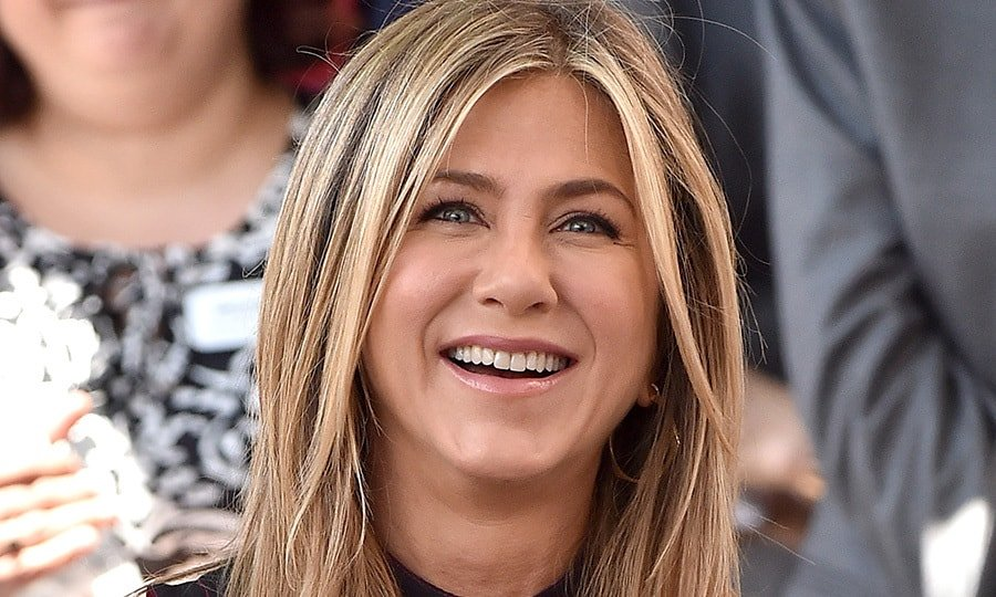 Jennifer Aniston Mixes Things Up in a Lacy Monochrome Ensemble